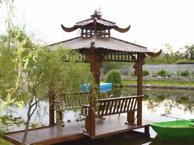 Беседка из дерева Китай (0059)