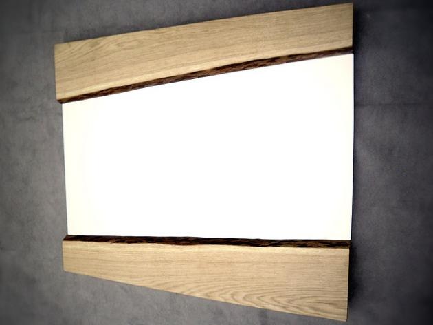 Дзеркало із масиву дуба 011