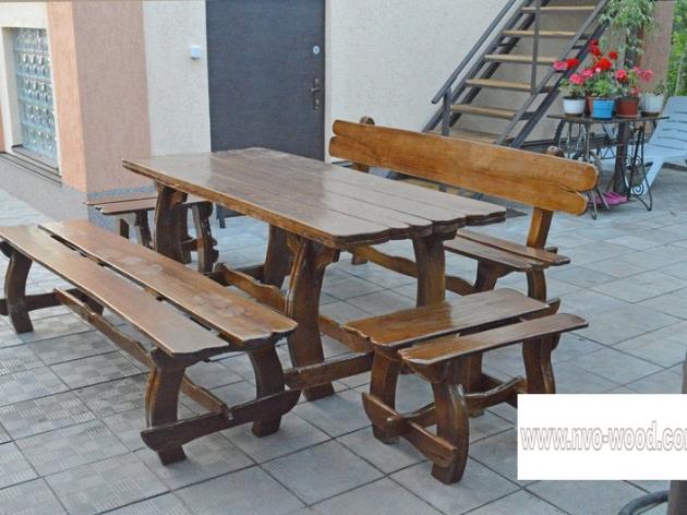 Лави та стіл (0193)