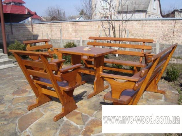 Меблі для саду з дерева (0085)