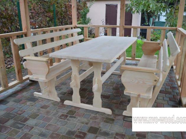 Меблі для саду з дерева (0086)