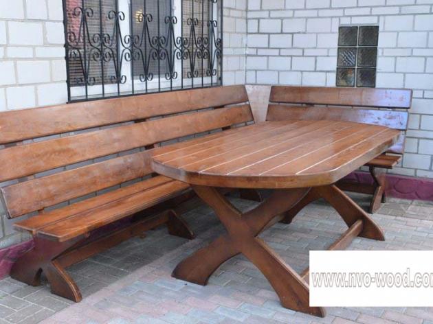 Меблі для саду з дерева (0087)