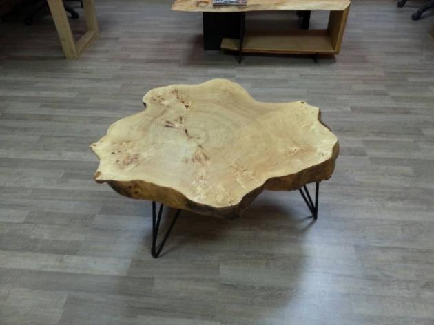Столик зi спилу чорної тополі (0020)