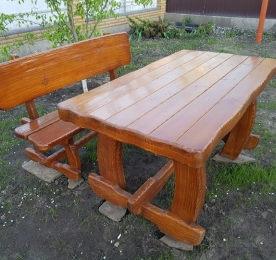 "Table with bench ""Bear"""