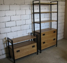 Buffet with Stand of Oak`s Solid