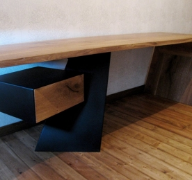 Writing Table of Solid Oak 007