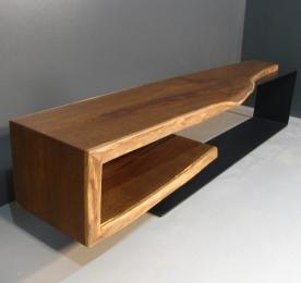 """Console of """"Smoked"""" Oak 003"""