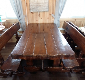 "Table ""BEAR"" with Benches"