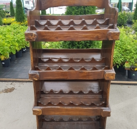 Wine Rack of Oak Solid
