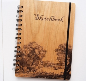 WOODEN NOTE BOOK OF A5 FORMAT