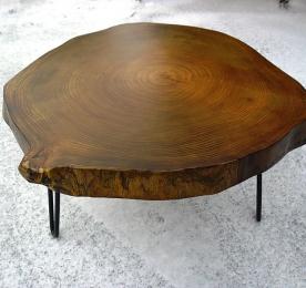 Столик из спила тополя SP301