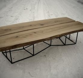 Большой Кофейный столик из массива ясеня