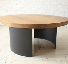 Круглый Кофейный столик из массива дуба