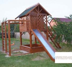 Детская площадка из дерева (005)