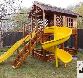 Дитячий майданчик з дерева (012)