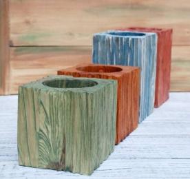 Деревянная подставка-цветочница nvo001