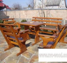 Мебель для сада из дерева (0085)