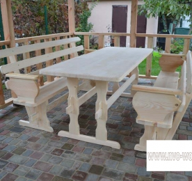 Wooden garden furniture (0086)