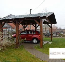 Навес из дерева для автомобиля (0138)