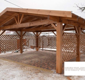 Awning of Wood For Car (0139)
