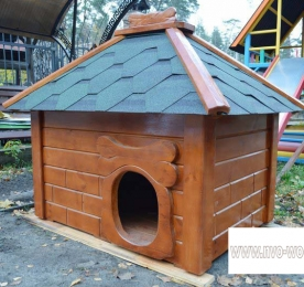 Insulated Kennel of Wood (0154)