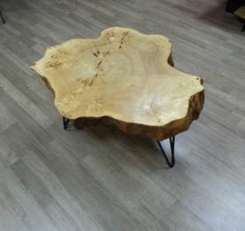 Столик из спила черного тополя  (0020)