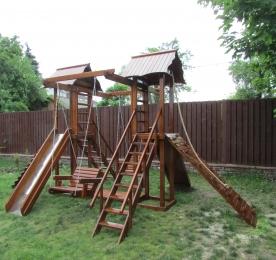Детская площадка из дерева (006)