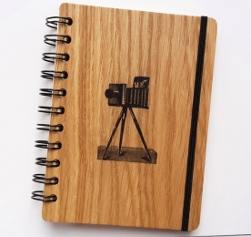 WOODEN NOTE BOOK OF A6 FORMAT