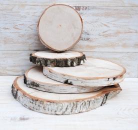 Спилы дерева, (поштучно) берёза