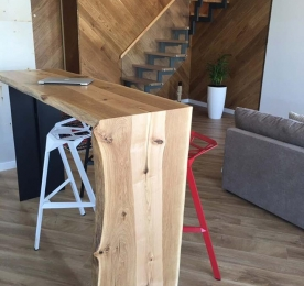 Bar Table of Oak and Ash