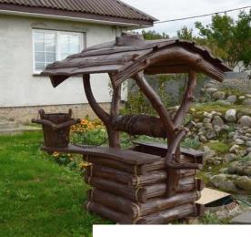 Wooden Well  for Garden  (0092)