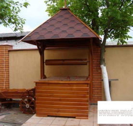 Wooden Well for Country House  (0070)