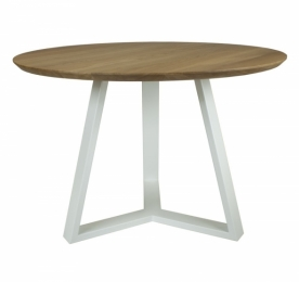 Круглый обеденный стол из ясеня